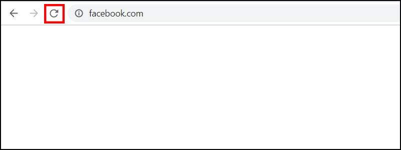 Bấm vào biểu tượng mũi tên cong để khắc phục lỗi err_connection_timed_out